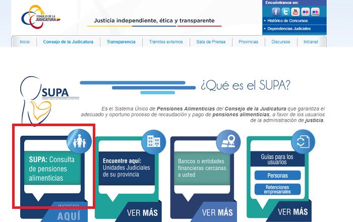 Consulta pensión SUPA