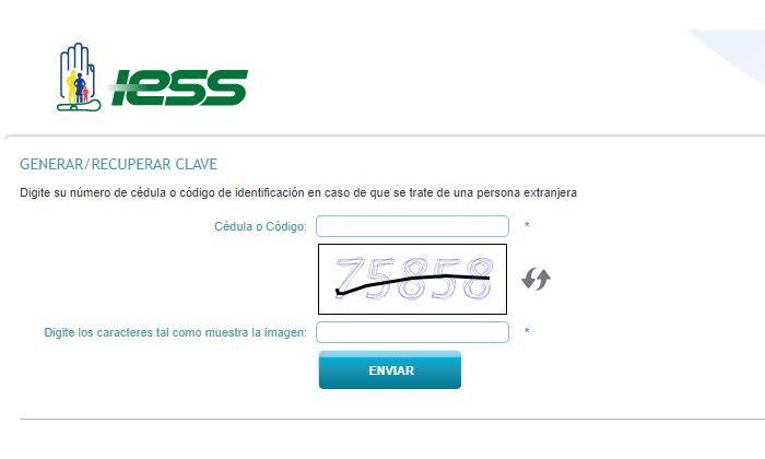 Generar clave IESS