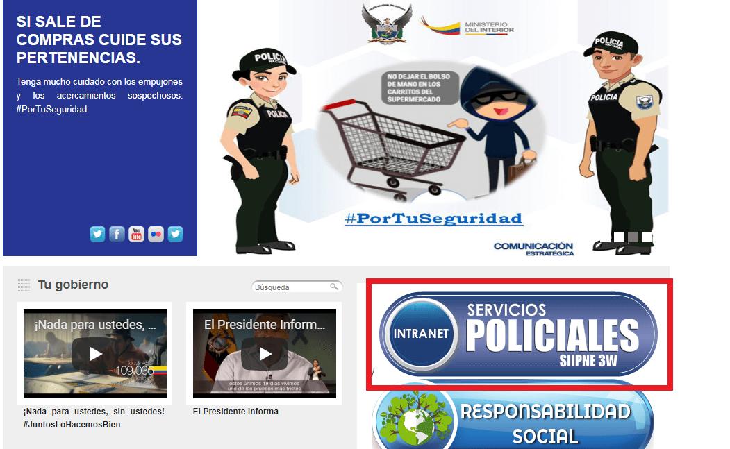 Servicios policiales Policía Nacional