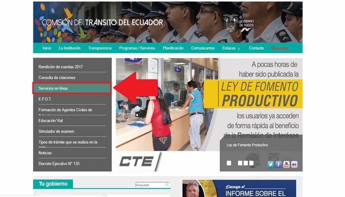 Página oficial CTE