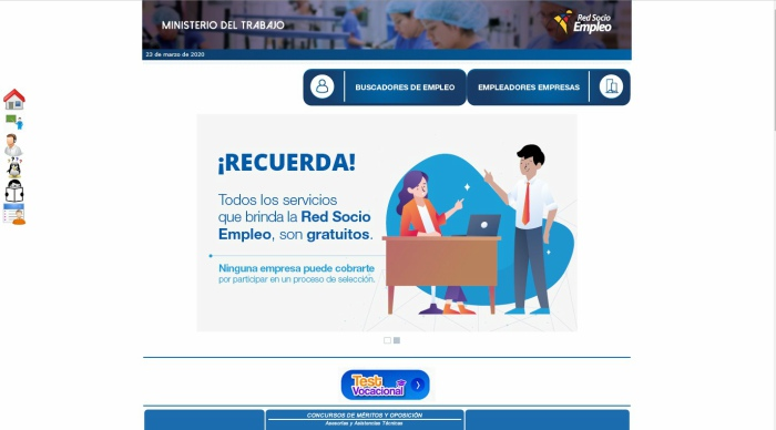 Web oficial Socio Empleo